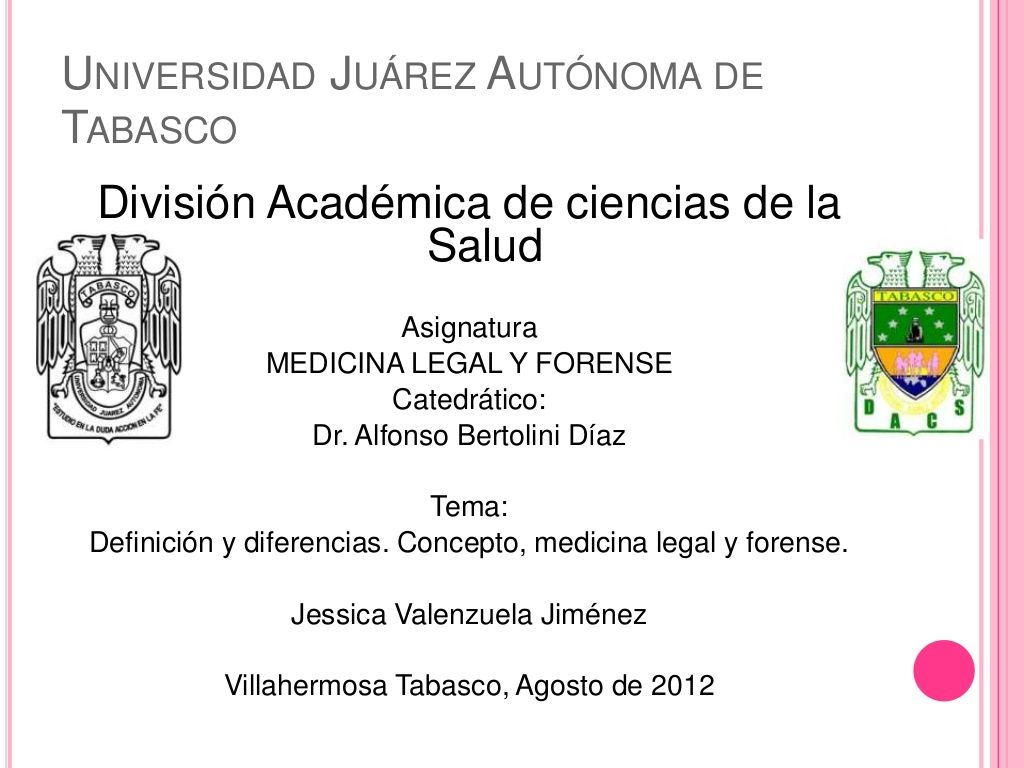 Medicina legal y forense definicion y diferencias by Jessi Valenz via slideshare
