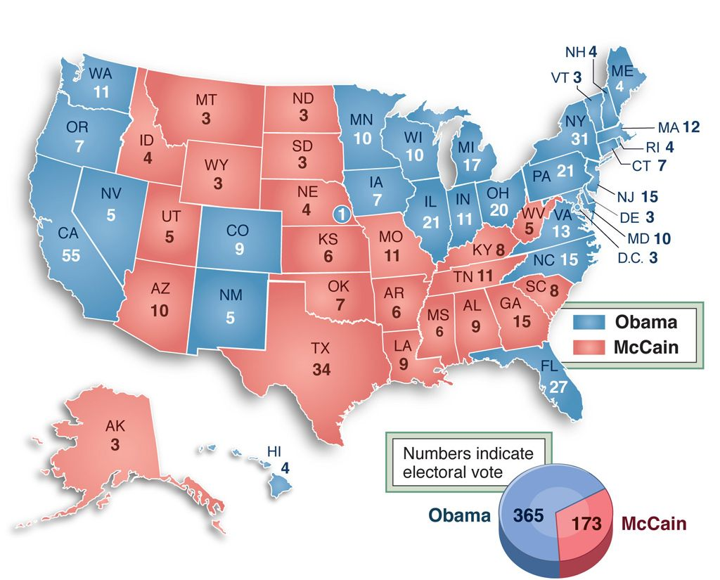 Best POL  American Government Images On Pinterest - Us map electoral to color