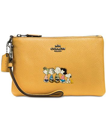 7a22ddfd53 COACH Snoopy Boxed Small Wristlet