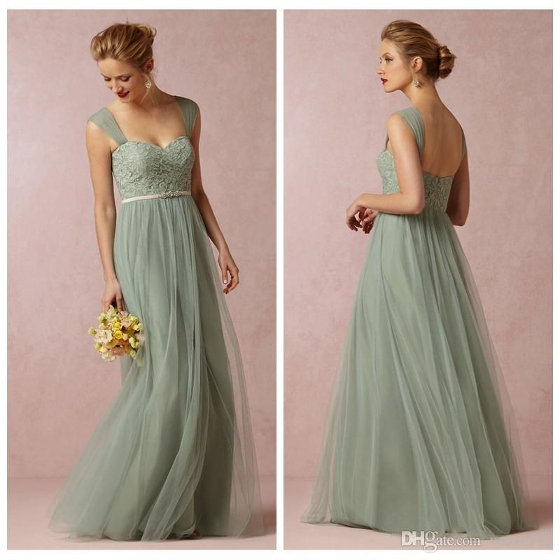f22c52d5f06 Wholesale Bridesmaid Dress - Buy Sage Convertible Dress Bridesmaid Dress  Green Tulle Removable Strap Long Sweetheart Formal Dresses Cheap 2014 BHLDN  Wedding ...
