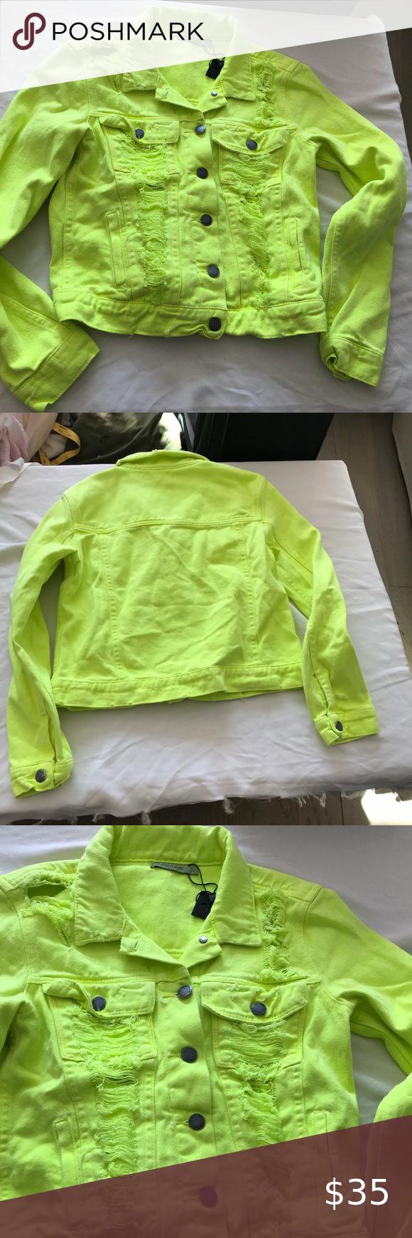 Carmar Lf Neon Lime Romeo Denim Jacket New S Destroyed Denim Jacket Destroyed Denim Denim Jacket [ 1740 x 580 Pixel ]
