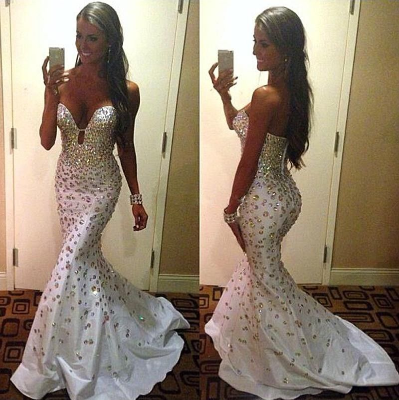 This Dress Could Be Custom Made There Are No Extra Cost To Do Custom Size And Color 1 Color With Images Evening Dresses Prom White Prom Dress Evening Dresses Elegant