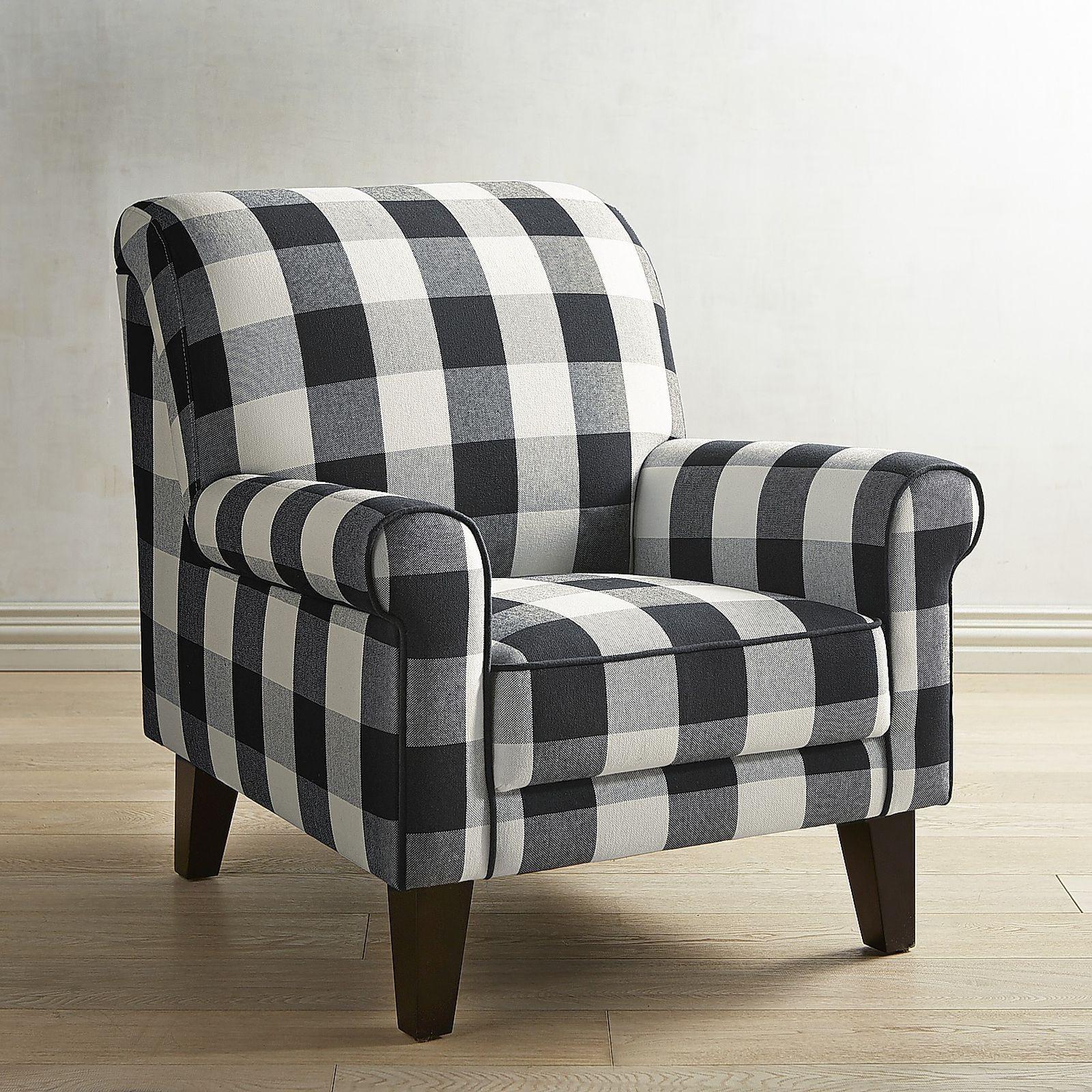Pier 1 Sofa Quality Navy Velvet Living Room Lyndee Buffalo Check Black Chair F U R N I T E