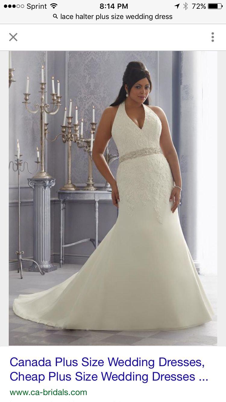 Lace Plus Size Dress Halter Top Wedding Dress Wedding Dress Organza Wedding Dresses [ 1334 x 750 Pixel ]