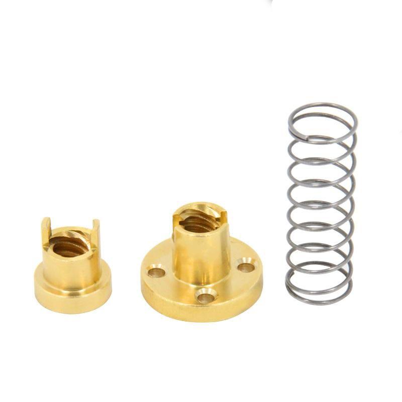 Rod Spring Loaded Screws Elimination Gap 3D Printer Parts T8 Anti Backlash Nut
