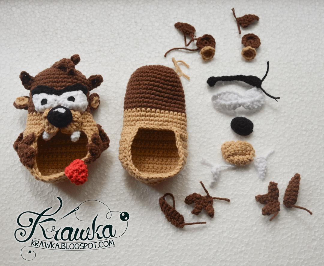 Krawka tasmanian devil taz baby booties pattern crochet free crochet krawka tasmanian devil taz baby booties pattern bankloansurffo Choice Image