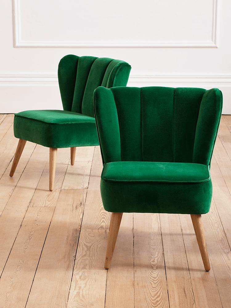 Product Velvet Chair Forest Green Ontwerper Westbury