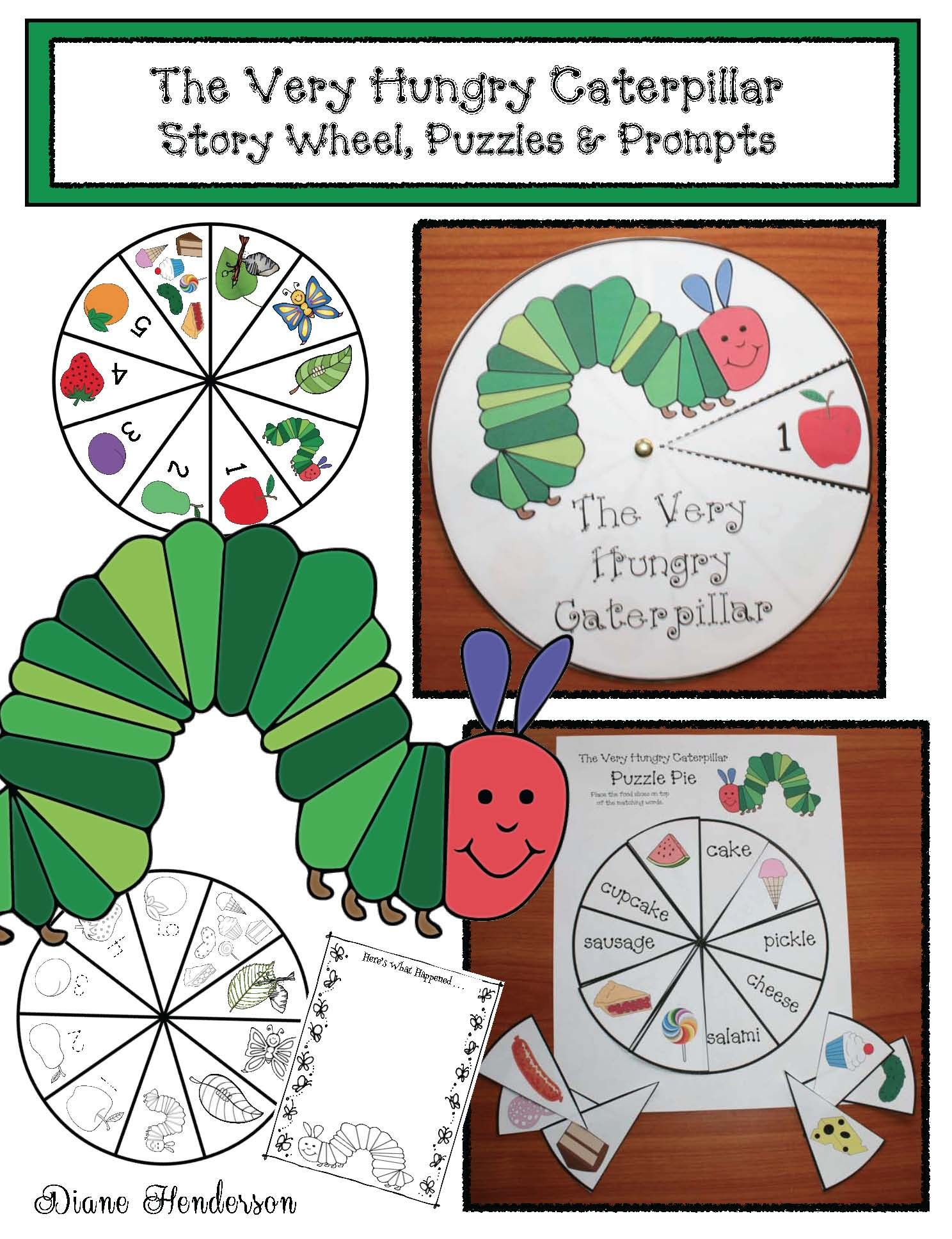 The Very Hungry Caterpillar Story Wheel Puzzles Amp Prompts