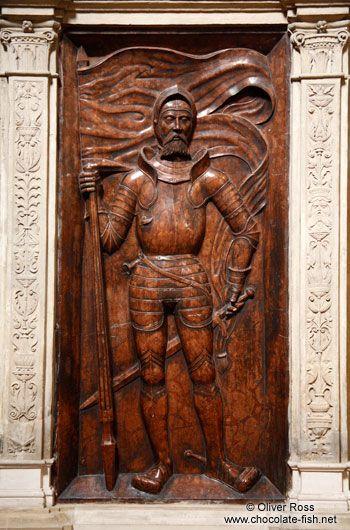 Knight sculpture inside St. Michael´s church in Vienna