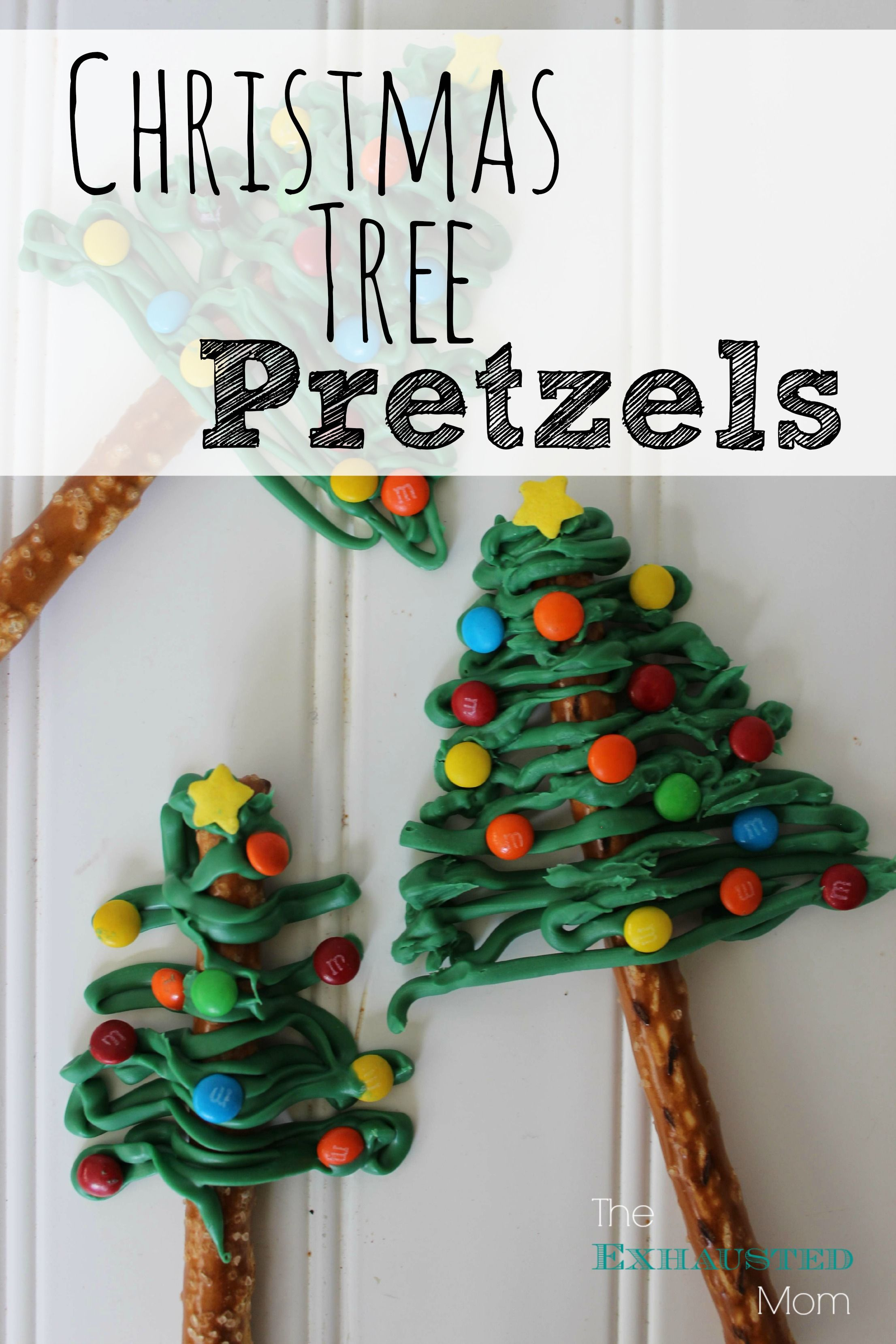 make these fun and easy christmas tree pretzels for your holiday celebrations