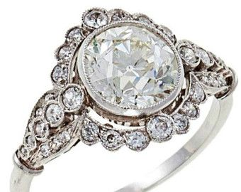 edwardian engagement ring Etsy women ring Pinterest