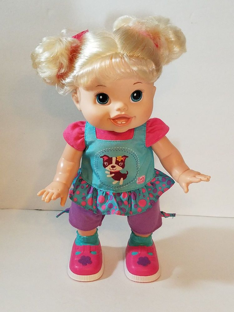 Blonde Baby Alive Wanna Walk Doll Walks And Talks 2011 Hasbro Toy 14 Tall Hasbro Baby Alive Blonde Babies Dolls