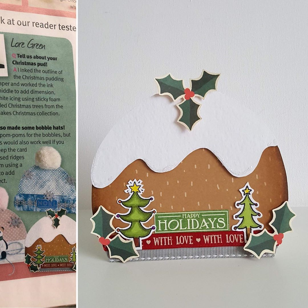 Lore Green On Instagram Hi This Is A Xmas Pudding Shaped Card That I Made For Papercraft Insp As One Of Their Reader Tester In 2020 Xmas Pudding Paper Crafts Cards