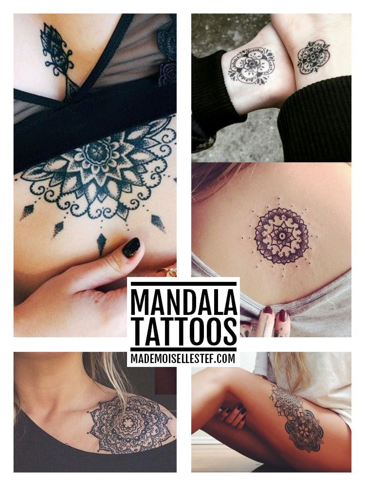 Tattoo Ideas # 35 - Mandala I Mademoiselle Stef -  Mademoiselle Stef – Fashion, Drawing Blog, Paris | Tattoo ideas  - #ideas #mademoiselle #mandala #Stef #strengthtattoo #Tattoo #tattooink #temporarytattoodiy