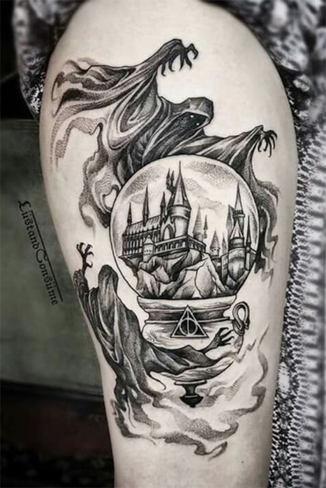 23 Amazing Harry Potter Tattoos You Have To See Harrypotter Tattoo Harry Potter Tattoos Harry Potter Tattoo Sleeve Harry Tattoos