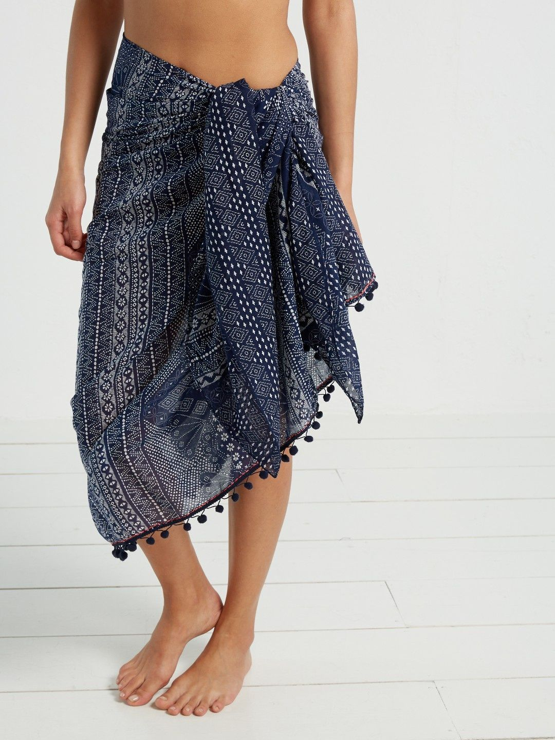 143928affe Indigo placement sarong | beach cover ups | White Stuff | My White ...