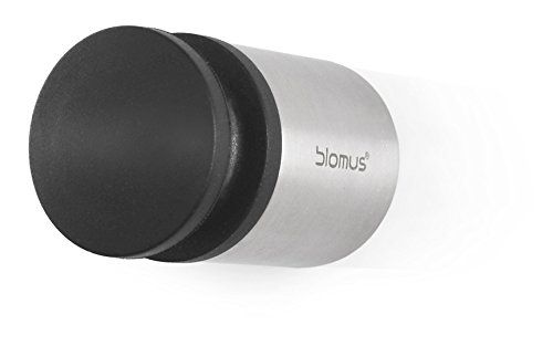 Blomus 65353 Wall Mounted Door Stop, Small Wall Mounted At Door Knob Height  Mounting Hardware Included Stylish Accent