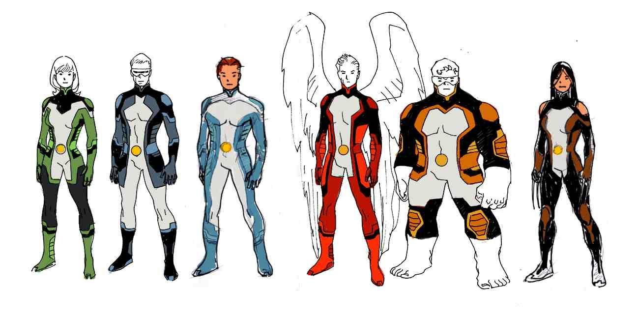 All New X Men Character Designs X Men Costumes X Men Superhero Design