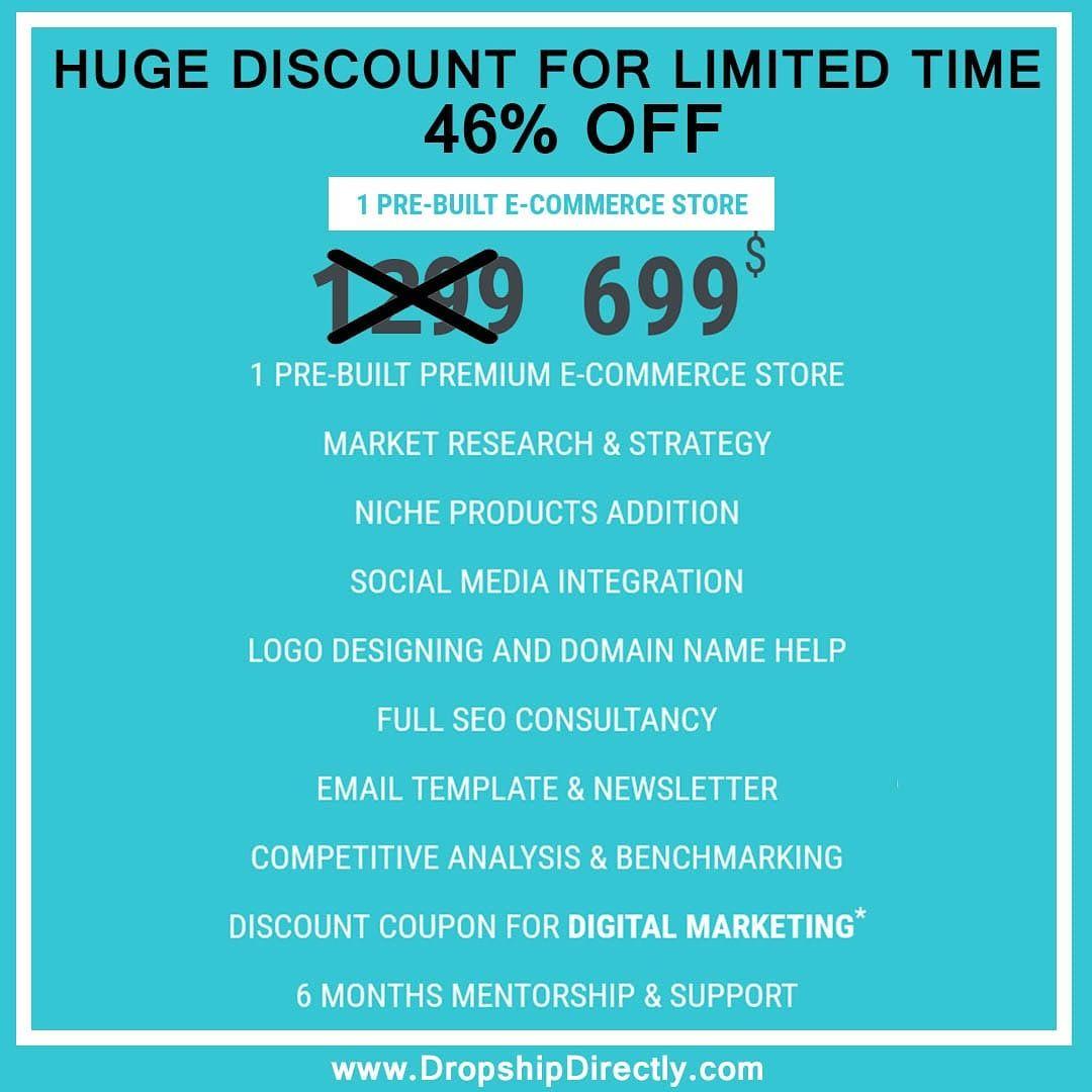 Get Your Pre Built Shopify Store In Just 699 Digital Marketing Solutions Social Media Integration Marketing Solution