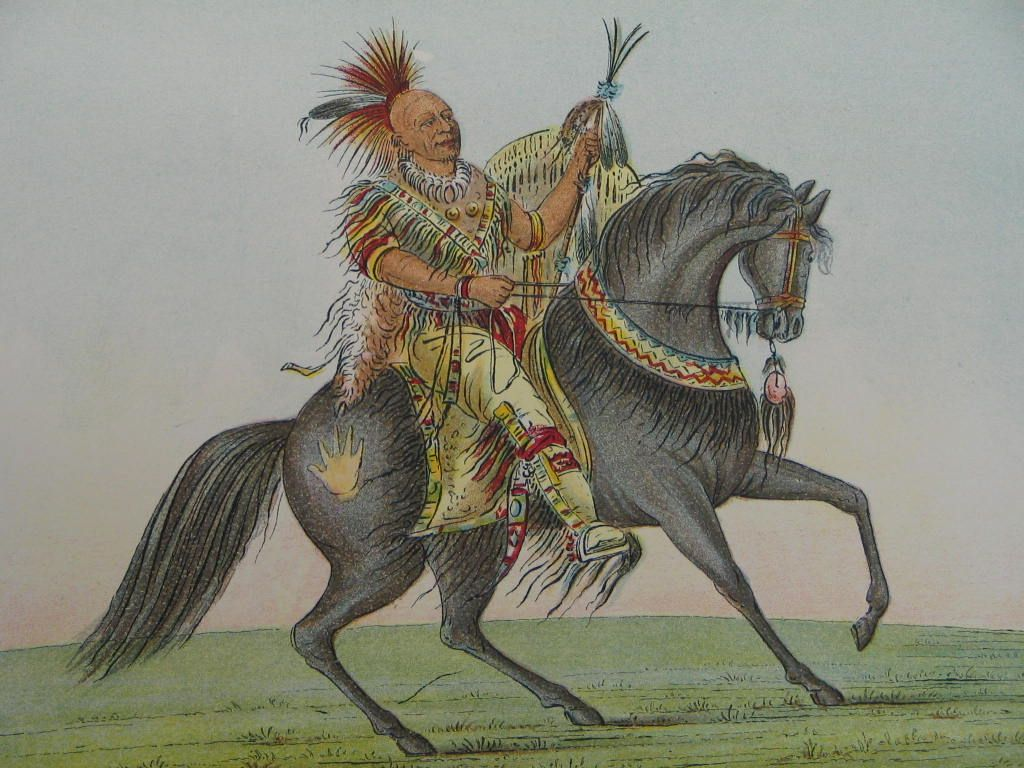 The McCune Collection: North American Indians - Kee-O-Kuk On Horseback - Sac and Fox tribes