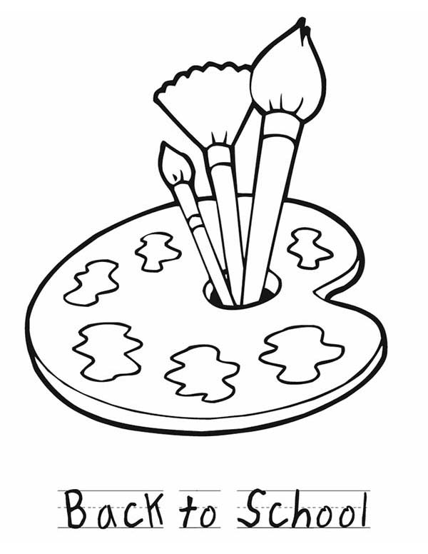 Back To School Paint Coloring Page Coloring Sky School Painting Coloring Pages Coloring Pages For Kids
