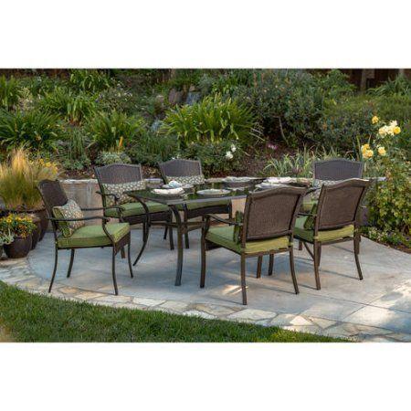 better homes and gardens providence 7 piece patio dining set green rh pinterest com au