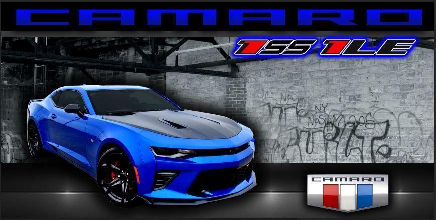 Hyper Blue Chevrolet Chevy Camaro 1ss 1le Vinyl Banner Garage Sign 2 X 4 Justfabgraphics Avec Images