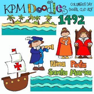 Columbus Day Digital Clip Art Happy Columbus Day Clip Art Columbus