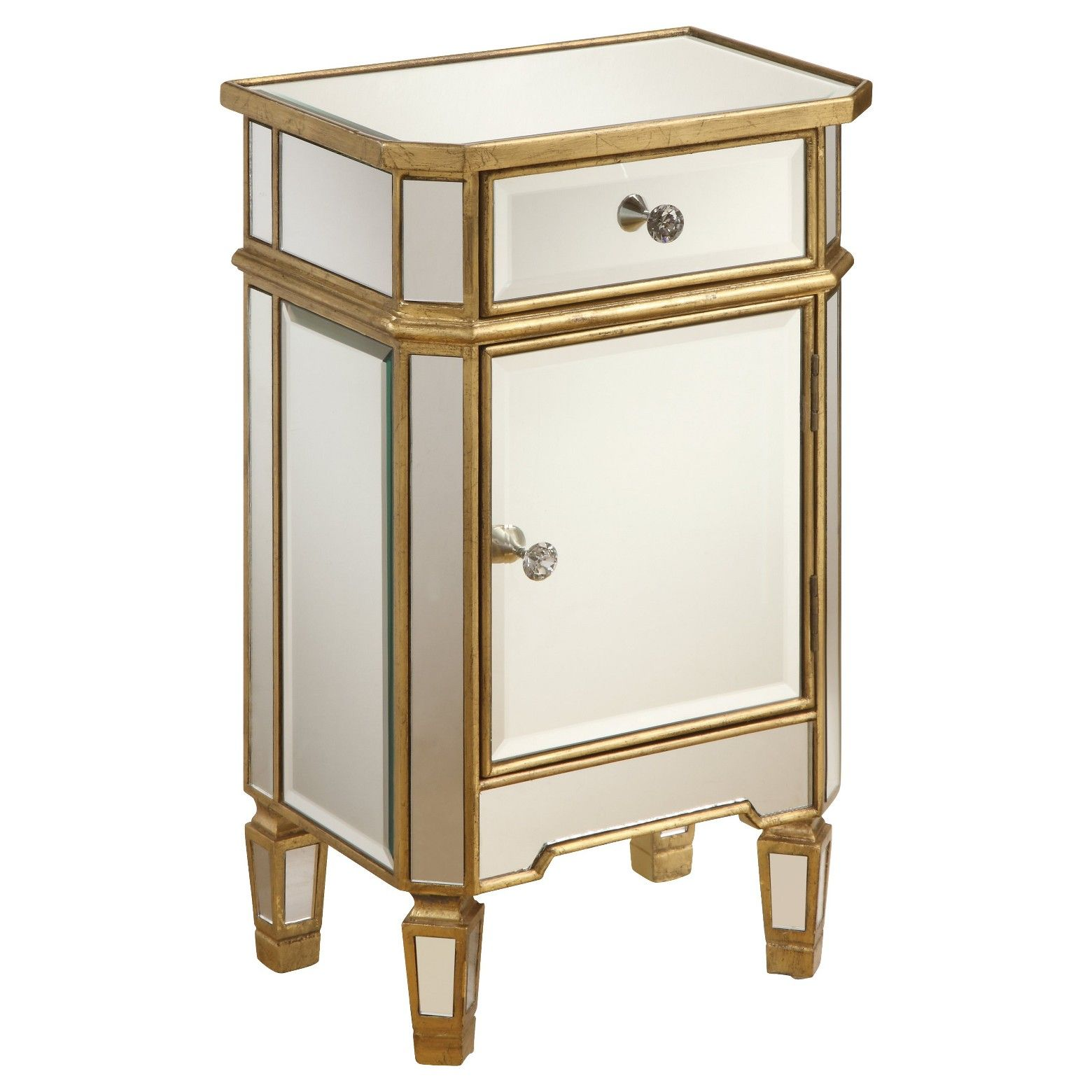 Storage Chest One Door Mirrored Christopher Knight Home Target Mirror Cabinets Mirrored End Table Home Furniture