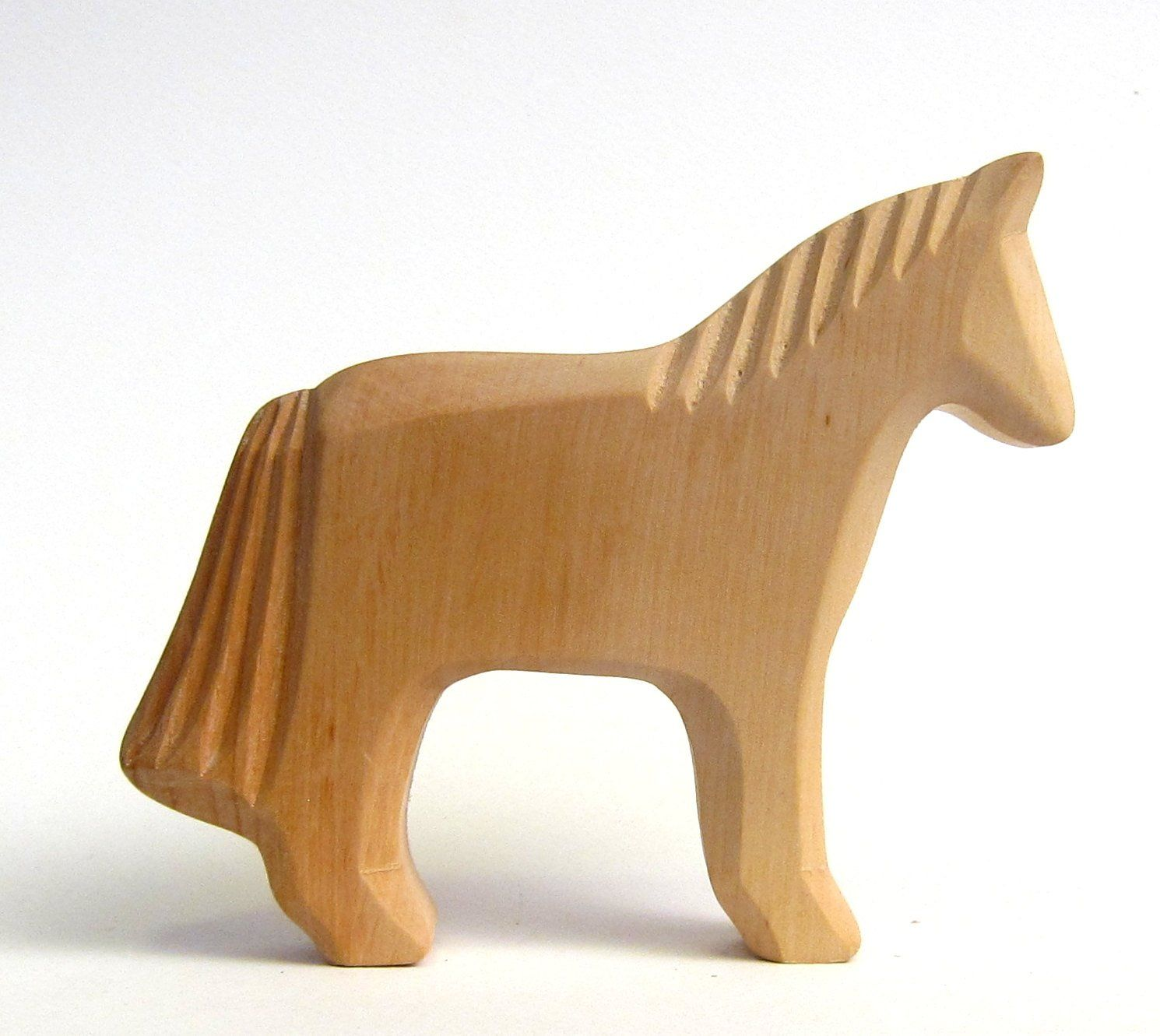 Toy Horse Organic Baby Toys Eco Products Useful Baby Gifts Wooden Animals Farm Animals Toddler Toys Eco Friendly Baby Game