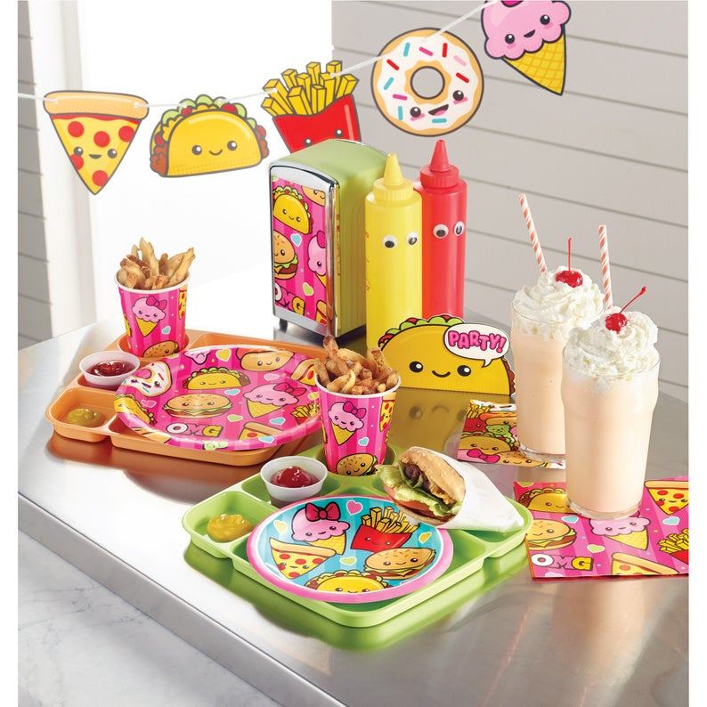 Taco Party Junk Food Party Centerpiece Fast Food Party Decoration Kawaii Party Tween Party Decor Birthday Centerpiece Teen Birthday