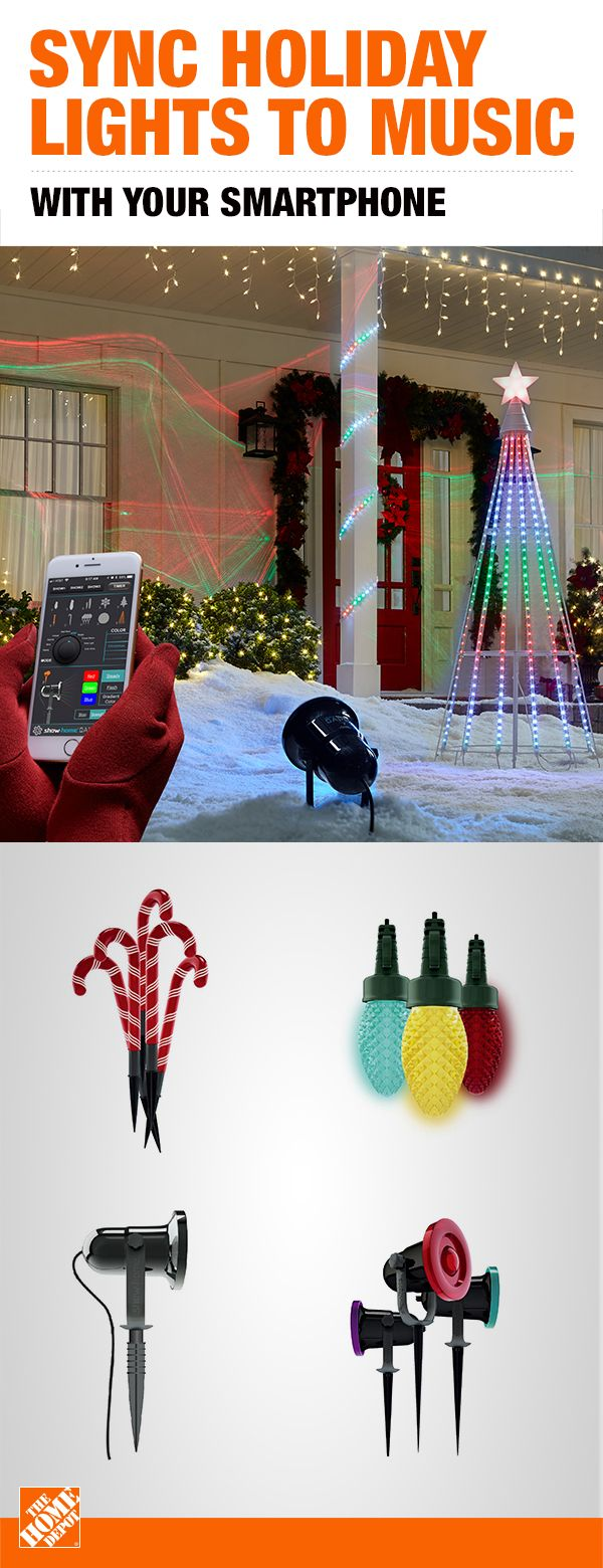 Bring Home A Holiday Atmosphere This Season With The Advanced Show Home App Easil Christmas Lights To Music Outdoor Christmas Decorations Christmas Light Show