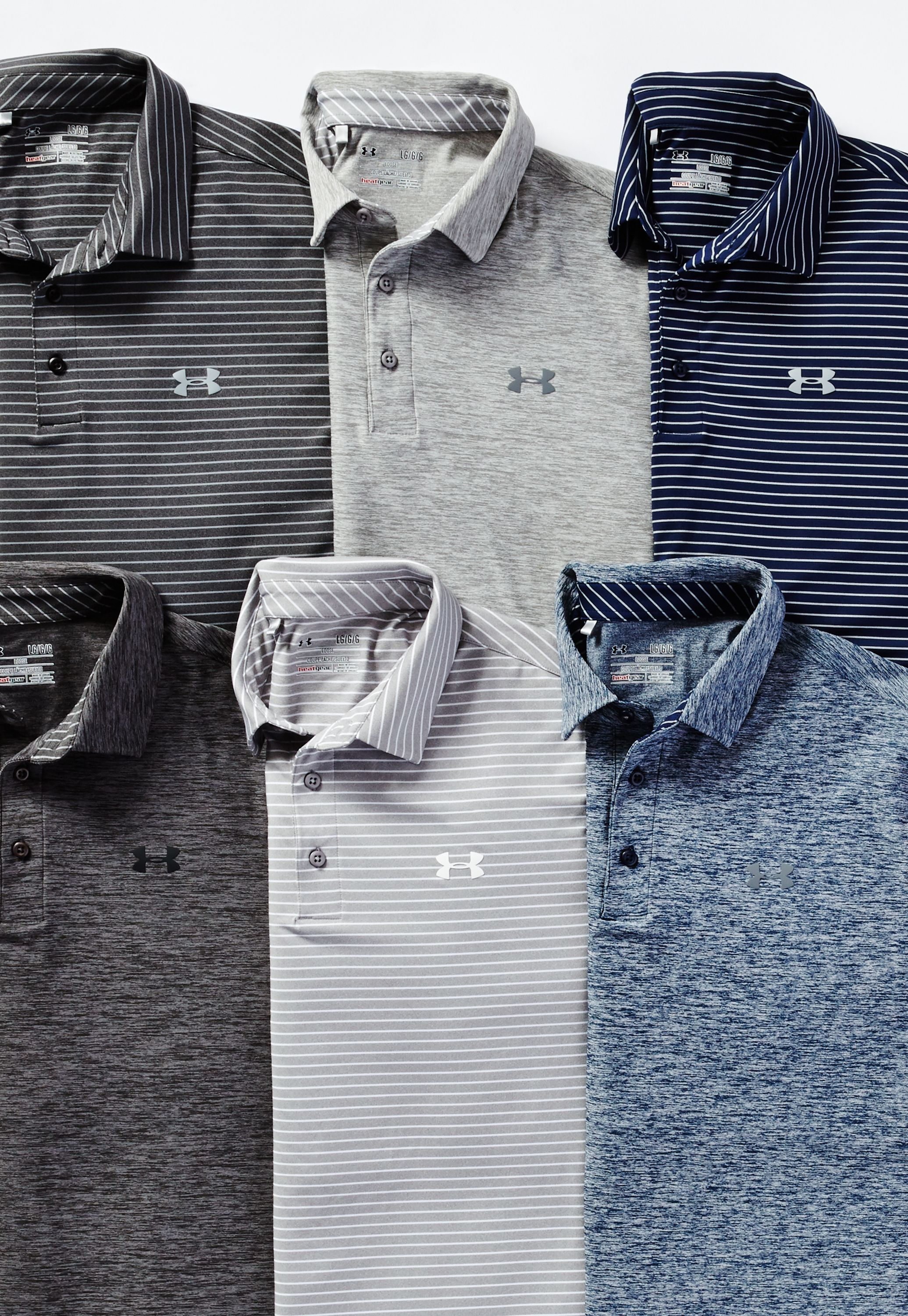 79ce9a0f Transition from the office to the course seamlessly in Under Armour Golf  polos.
