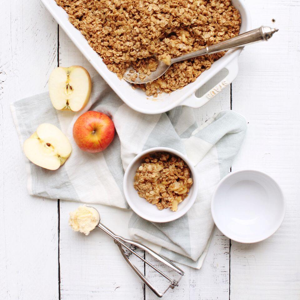 Apple Crisp (Gluten Free & Vegan Option)