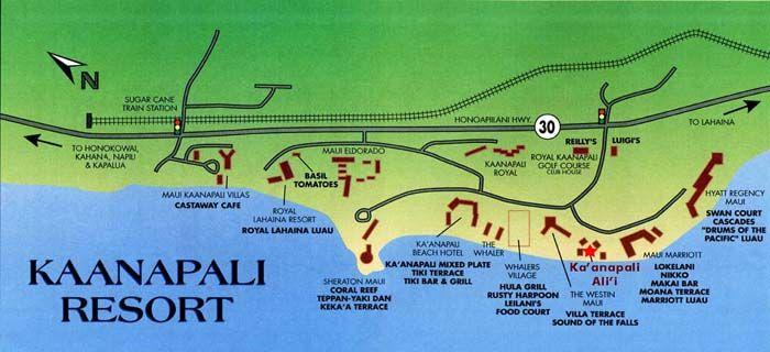 Kaanapali Maui Resort Map  Hawaii  Pinterest  Resorts Hawaii