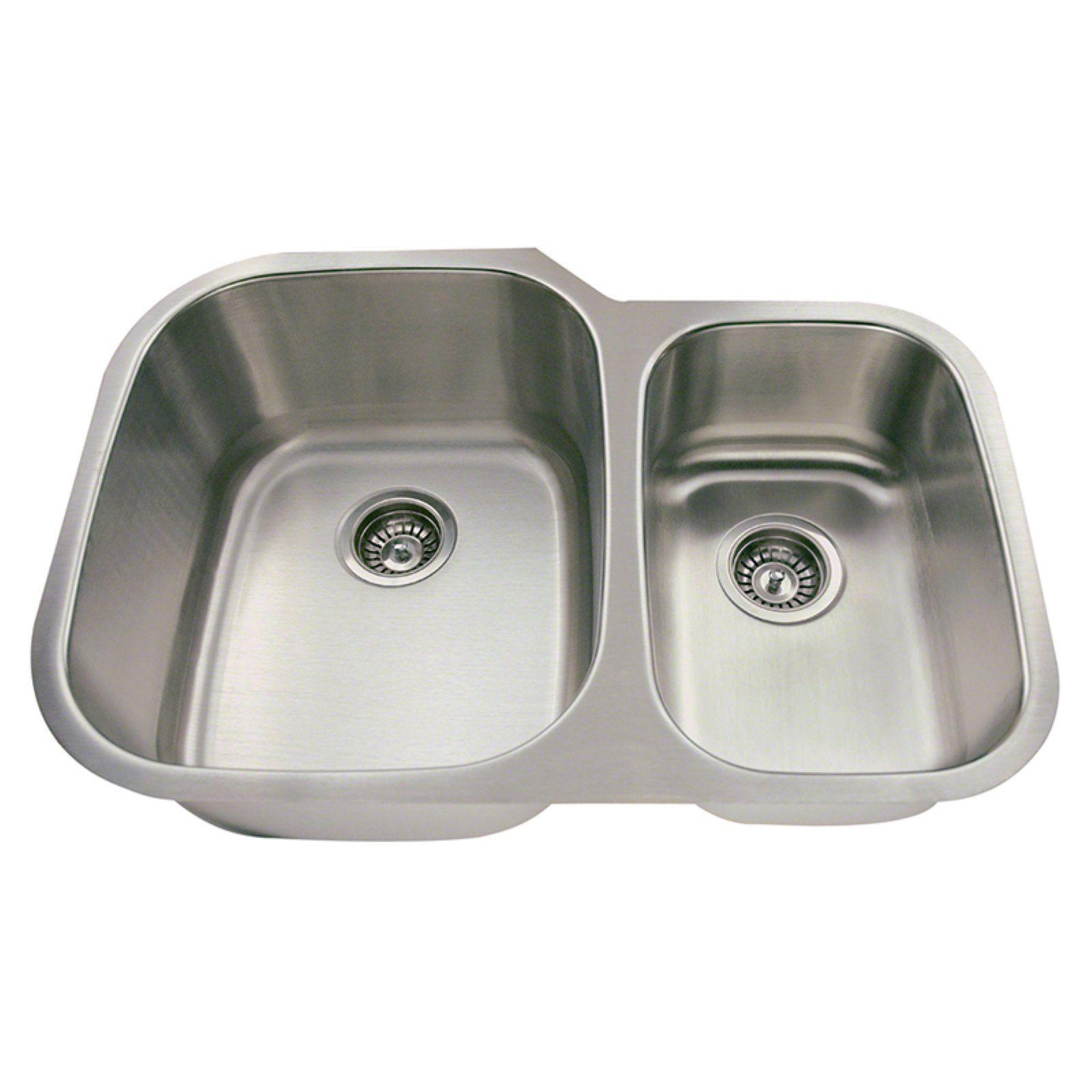 Polaris Sinks Pl605 Double Basin Undermount Kitchen Sink