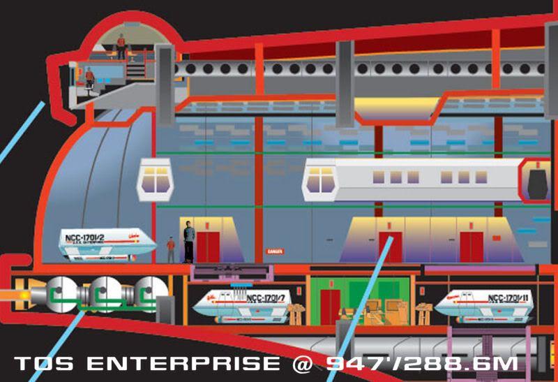 Shuttlebay Schematic From Tos U S S Enterprise Ncc 1701
