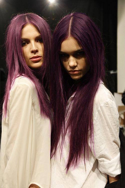 Violet Hair Haar Styling Haarfarben Frisuren Langhaar