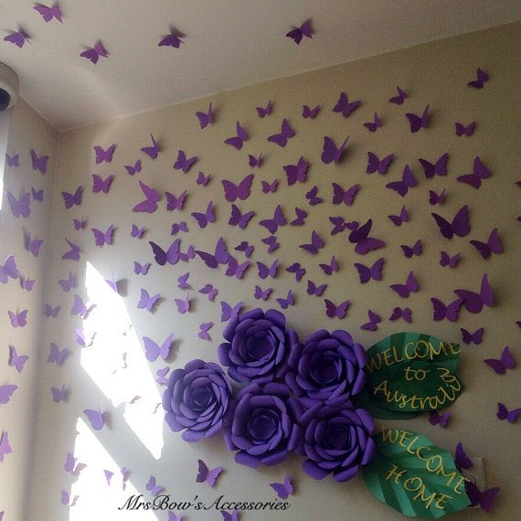 Paper Butterflies Wall Installation Wall Decoration Home Styling Room Decor Nursery