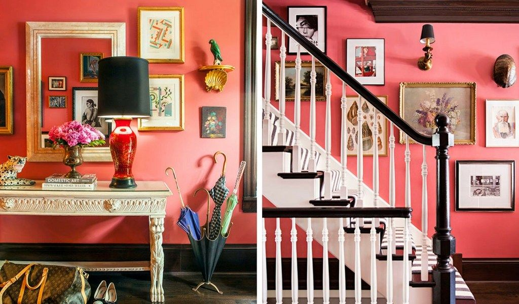 Accidental Wes Anderson Interiors Pink Walls Eclectic Living