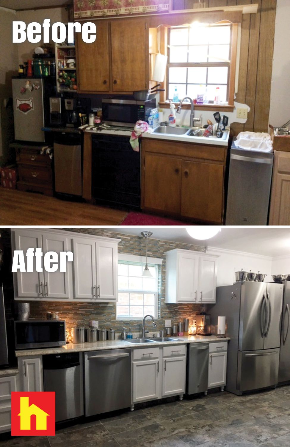 Kitchen Remodel By Freda M Of Pine Bluff Ar Remodeled My Kitchen Used Cabinets Flooring Cabinet Door Pulls Glass W Kitchen Remodel Used Cabinets Kitchen