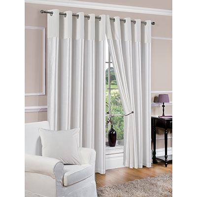 Lined Curtains White Eyelet