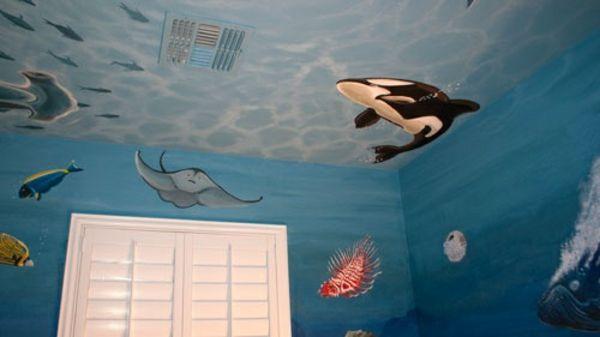 Wandbemalung Kinderzimmer - Tolle Interieur Ideen | Gestaltung