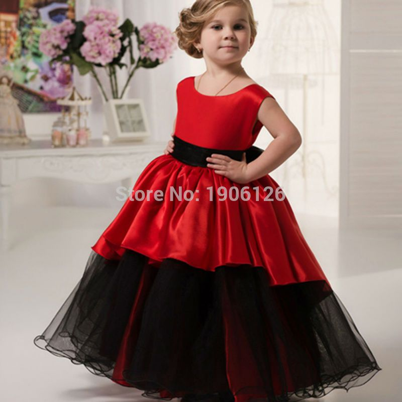 9cf45f721 Red Pageant Ball Gowns For Girls Kids Evening Gowns Prom-Dress ...