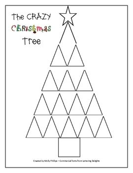 The Crazy Christmas Tree Fraction Activity