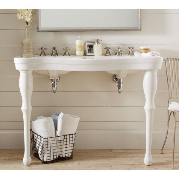 Parisian Pedestal Double Sink Console: Pottery Barn Parisian Pedestal Double Sink Console ($1,099
