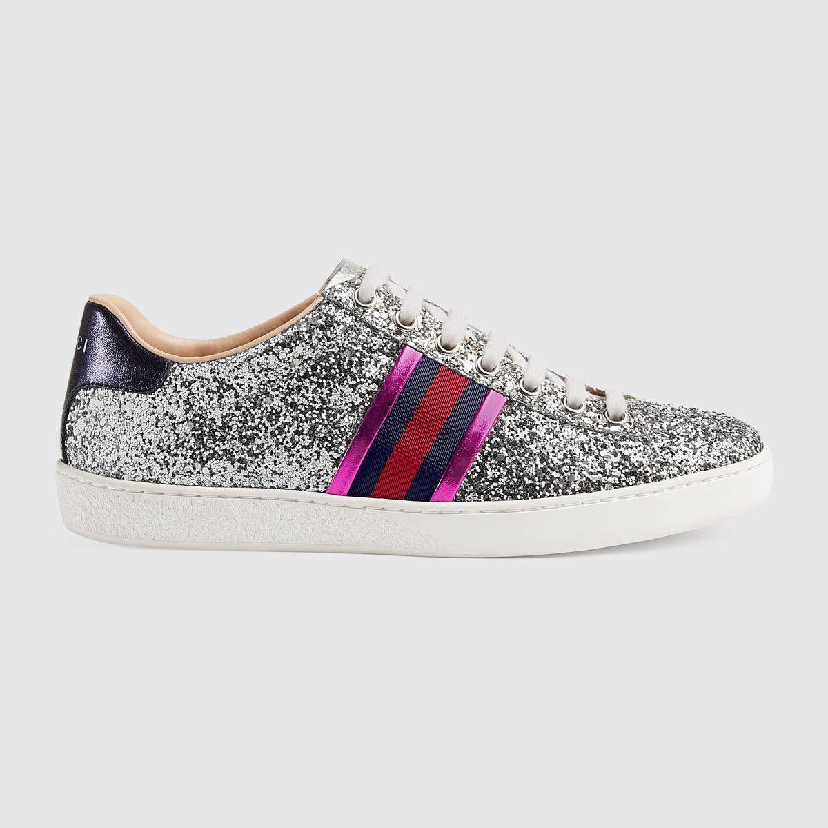 Gucci Ace glitter sneaker  5593bad5a