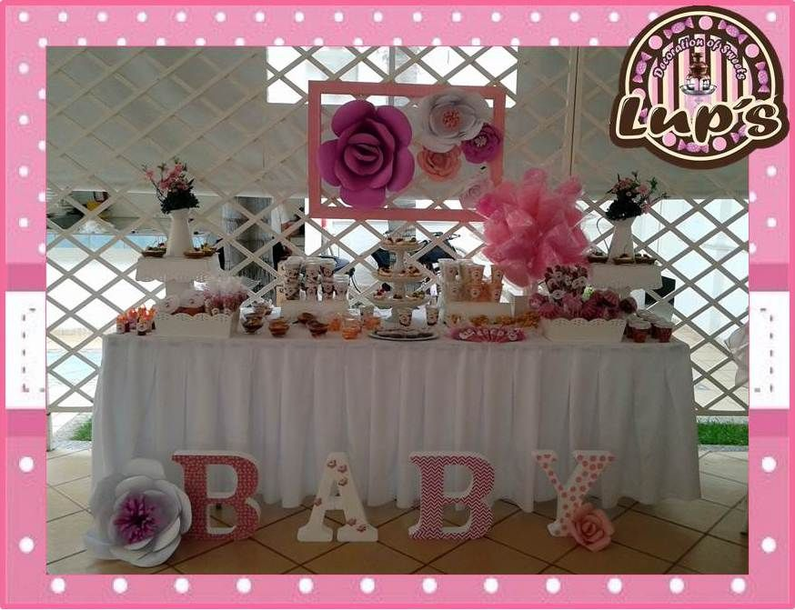 Mesa de postres baby shower candy bar mesas de postres for Mesa de postres baby shower
