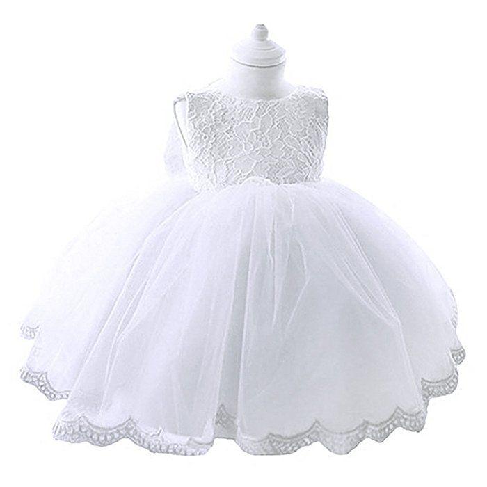 YiZYiF Kleinkinder Baby Mädchen Kleid Blumenspitze Prinzessin Kleid ...