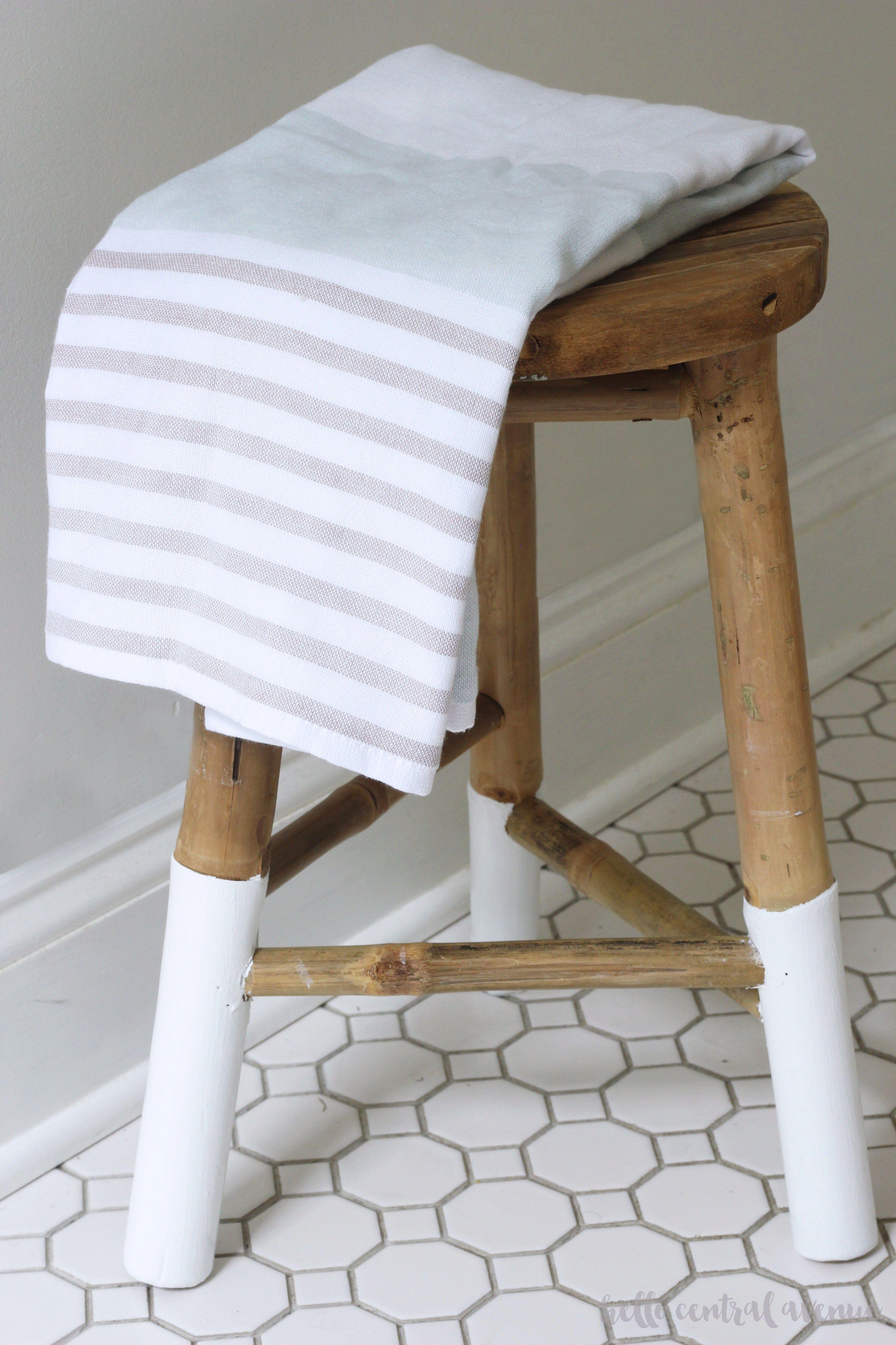 Enjoyable Serena Lily Knock Off Dip Dyed Wooden Stool H O M E Short Links Chair Design For Home Short Linksinfo